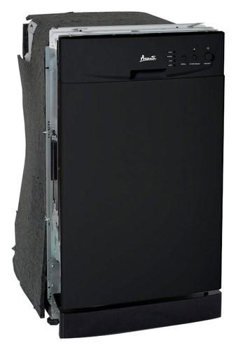 """Avanti 18"""" Tall Tub Built-In Dishwasher Black DWE1801B"""
