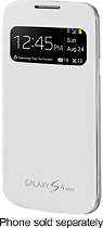 Samsung - S-View Cover for Samsung Galaxy S 4 Mini Cell Phones - White
