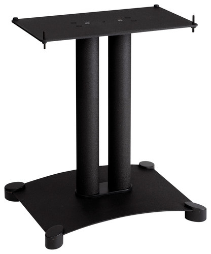 Sanus - Foundations Steel Series Center-Channel Speaker Stand - Black