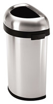 simplehuman - 60L Open Trash Can - Stainless-Steel