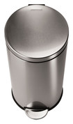 simplehuman - 30L Step Trash Can - Stainless-Steel