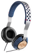 House of Marley - Liberate On-Ear Headphones - Blue/Silver/Brown