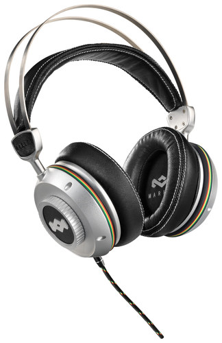 House of Marley - TTR Over-the-Ear Headphones - Silver/Black