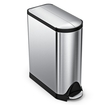 simplehuman - 45L Butterfly Step Trash Can - Stainless-Steel
