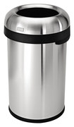 simplehuman - 80L Bullet Open Trash Can - Stainless-Steel