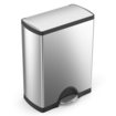 simplehuman - 50L Rectangular Step Trash Can - Stainless-Steel