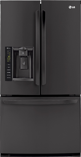 LG - 24.7 Cu. Ft. French Door Refrigerator with Thru-the-Door Ice and Water - Black
