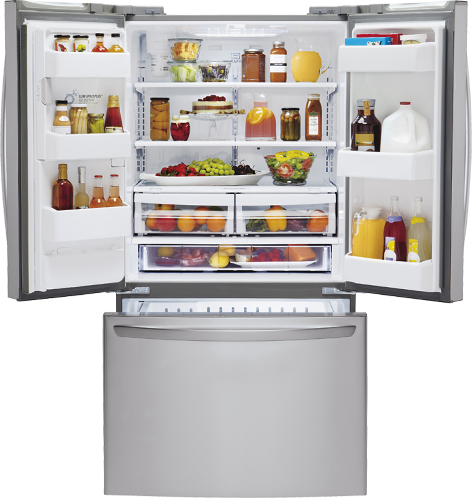 Lg 241 Cu Ft French Door Refrigerator With Thru The Door Ice