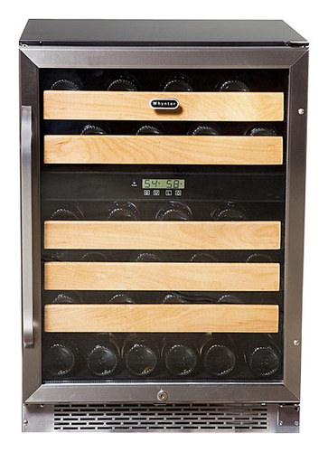 Whynter - 46-Bottle Wine Refrigerator - Black