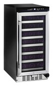 Whynter - 33-Bottle Wine Refrigerator - Black