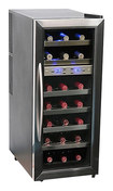 Whynter - 21-Bottle Wine Cooler - Black