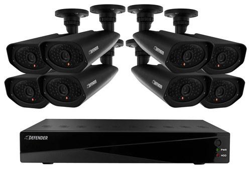 Defender Sentinel Pro 16-Channel, 8-Camera Indoor/Outdoor DVR Surveillance System Black 21161