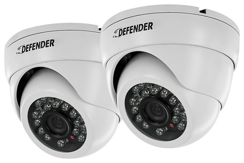 Defender - Indoor/Outdoor Dome Cameras (2-Pack) - White