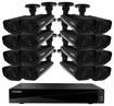 Defender - Sentinel Pro 16-Channel, 16-Camera Indoor/Outdoor DVR Surveillance System - Black