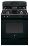 "GE - 30"" Self-Cleaning Freestanding Gas Range - Black"