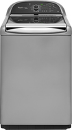 Whirlpool - Cabrio Platinum 4.8 Cu. Ft. 16-Cycle High-Efficiency Steam Top-Loading Washer - Chrome Shadow