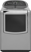 Whirlpool - Cabrio Platinum 7.6 Cu. Ft. 14-Cycle Steam Gas Dryer - Chrome Shadow