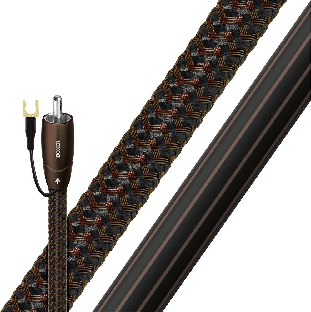 AudioQuest - Boxer 9.8' Subwoofer Cable - Black/Brown