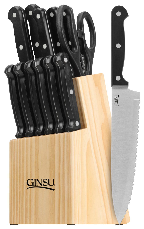 Ginsu - Essentials Series 14-Piece Cutlery Set - Black