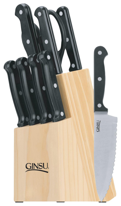 Ginsu - Essentials Series 10-Piece Cutlery Set - Black