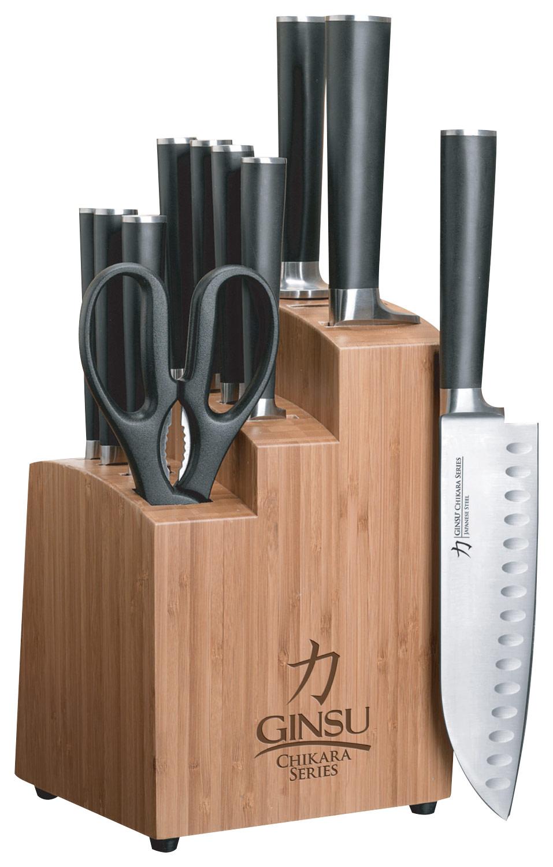 Ginsu - Chikara Signature Series 12-Piece Cutlery Set - Black