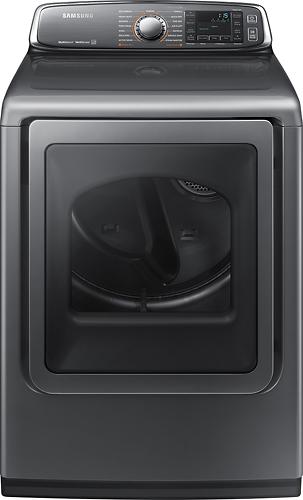 Samsung - 7.4 Cu. Ft. 15-Cycle Steam Gas Dryer - Platinum