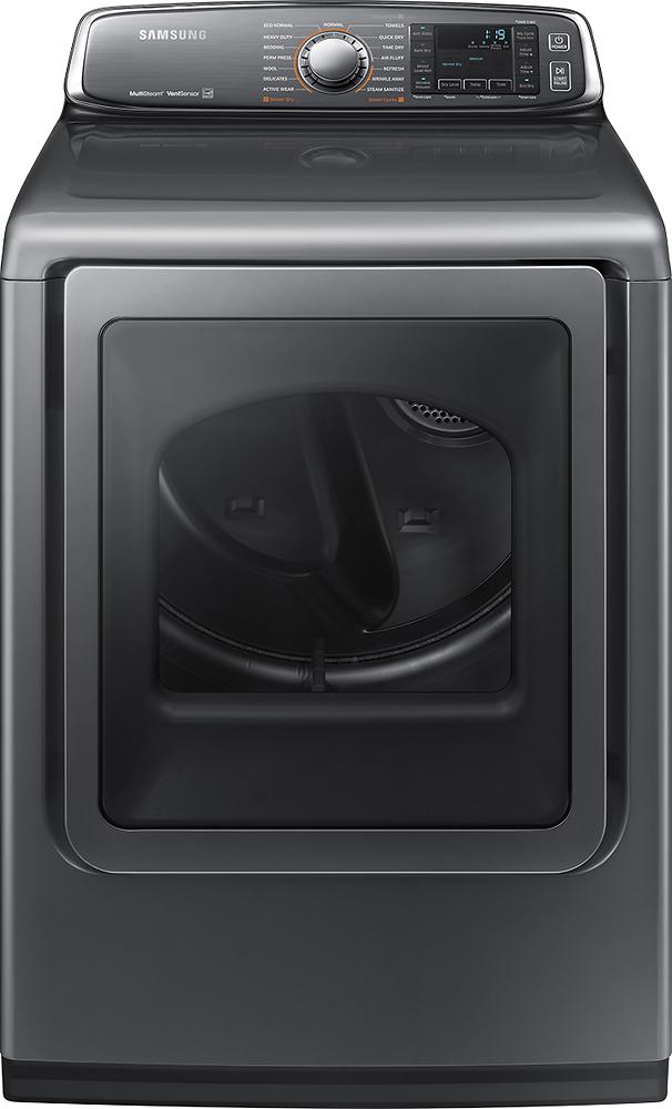 Samsung - 7.4 Cu. Ft. 15-Cycle Steam Smart Gas Dryer - Platinum