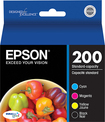 Epson - DURABrite 200 Ink Jet Cartridge Combo Pack T200120-BCS - Black, Cyan, Magenta, Yellow