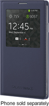 Samsung - S-View Case for Samsung Galaxy Note 3 Cell Phones - Indigo Blue
