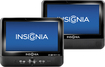"Insignia™ - 9"" Dual TFT-LCD Portable DVD Player - Black"