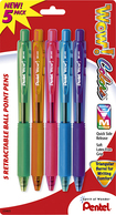 Pentel - Wow Assorted Retractable Ball-Point Fashion Pen (5-Pack) - Multicolor