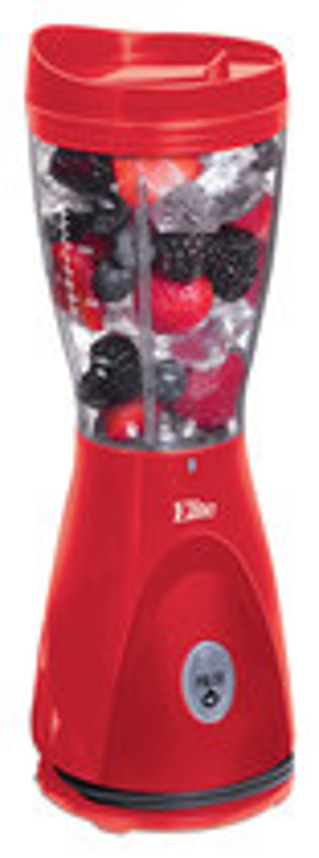 Elite Cuisine - 14-Oz. Personal Drink Blender - Red