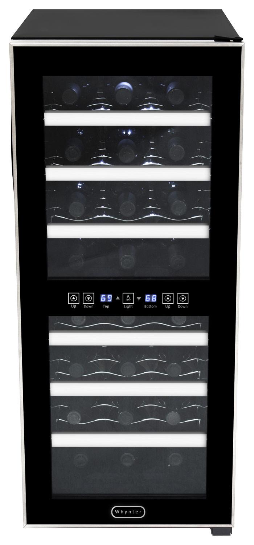 Whynter - 24-Bottle Wine Cooler - Stainless-Steel/Black