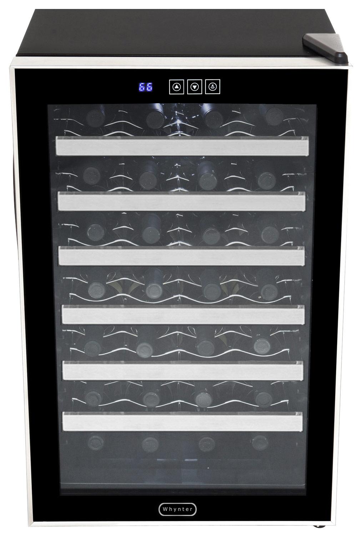 Whynter - 28-Bottle Wine Cooler - Stainless-Steel/Black