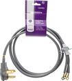 Smart Choice - 6' 30 Amp 3-Prong Dryer Cord Required for Hook-Up