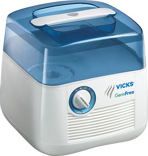 Vicks - Germ-Free Cool Mist 1 Gal. Humidifier - White/Blue