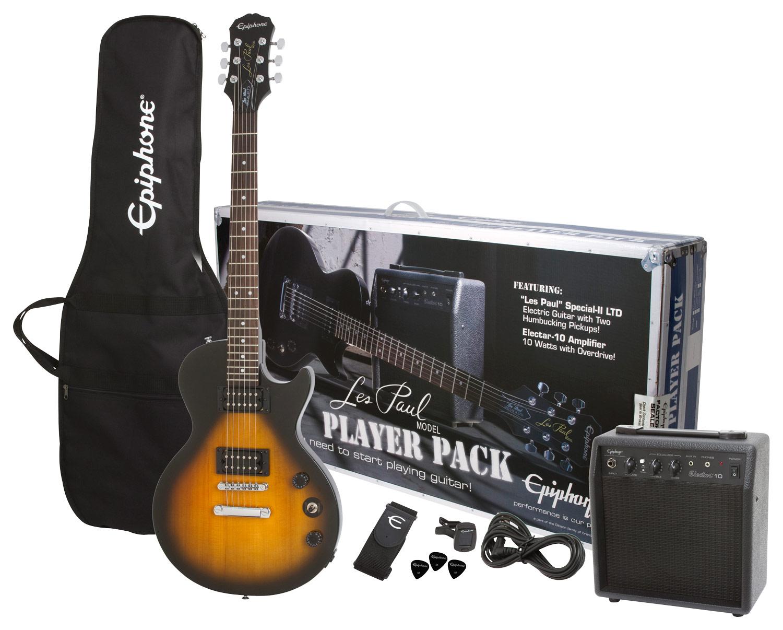 Epiphone - Les Paul Special-II LTD Electric Guitar Player Pack - Vintage Sunburst