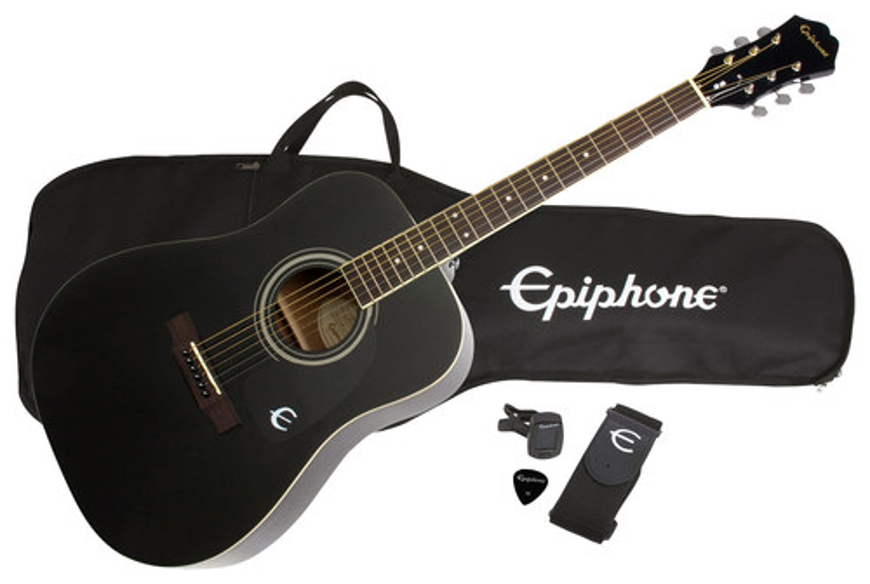 Epiphone - 6-String Dreadnought Acoustic Guitar - Ebony