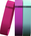 Fitbit - Flex Vibrant Bands For Fitbit Flex Wireless Activity And Sleep Trackers (3-count) - Violet/teal/pink 2931018
