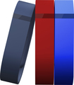 Fitbit - Flex Classic Bands for FitBit Flex Wireless Activity and Sleep Trackers (3-Count) - Navy/Red/Blue