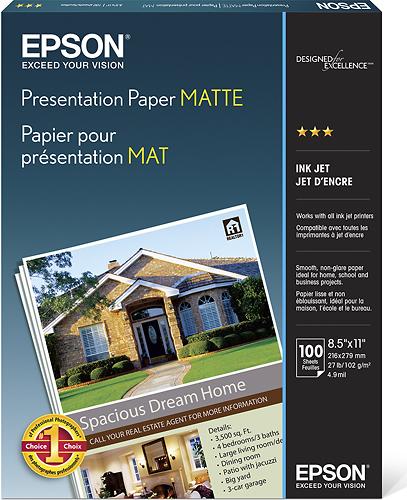 Epson - Matte Presentation Paper - White
