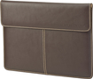 HP - Leather Ultrabook Laptop Sleeve - Brown