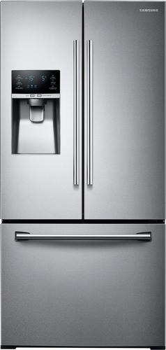 Samsung - 25.5 Cu. Ft. French Door Refrigerator with Thru-the-Door Ice and Water - Stainless Steel