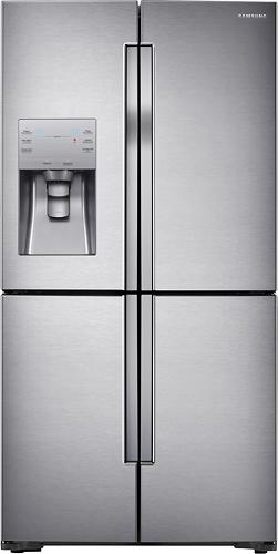 Samsung - 22.5 Cu. Ft. 4-Door Flex French Door Refrigerator with Convertible Zone - Stainless Steel