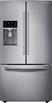 Samsung - 28.1 Cu. Ft. French Door Refrigerator with Thru-the-Door Ice and Water - Stainless-Steel