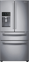 Samsung - 28.2 Cu. Ft. 4-Door French Door Refrigerator with Thru-the-Door Ice and Water - Stainless-Steel