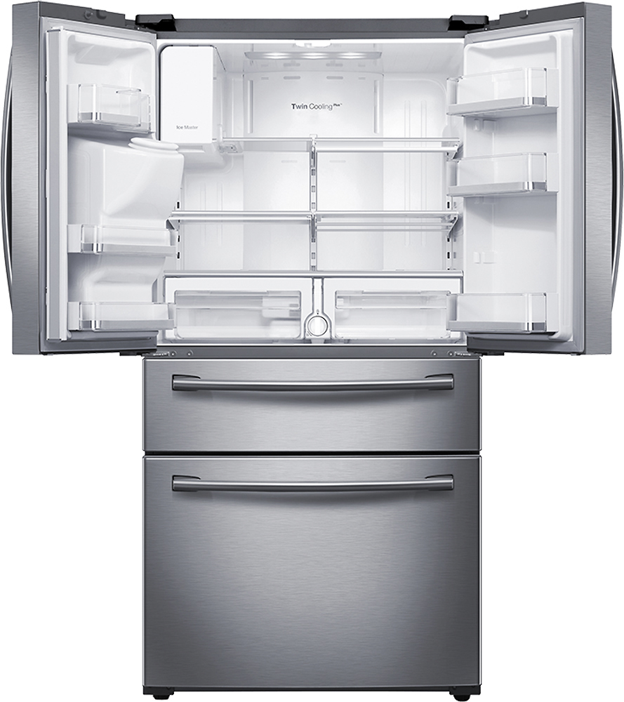 Ft. 4 Door French Door Refrigerator With Thru The Door Ice And Water    Stainless Steel At Pacific Sales