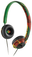 House of Marley - Harambe On-Ear Headphones - Green/Red/Yellow/Black