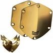 V-MODA - Crossfade Over-Ear Headphone Metal Shield Kit - Gold - Gold