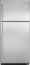 Frigidaire - 20.6 Cu. Ft. Top-Freezer Refrigerator - Stainless-Steel/Black